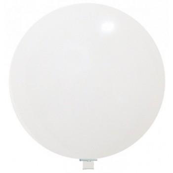 Palloncino in Lattice Rotondo 150 cm. Bianco - Piatto. Si consiglia valvola di chiusura