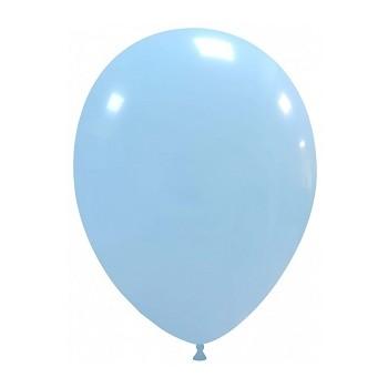Palloncino in Lattice Rotondo 30 cm. Azzurro Macaron