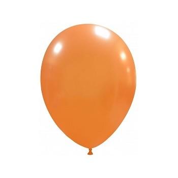 Palloncino in Lattice Rotondo 30 cm. Arancione Metallizzato