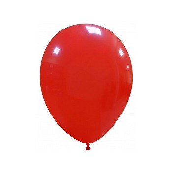 Palloncino in Lattice Rotondo 30 cm. Rosso