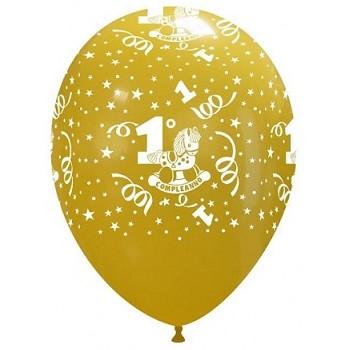 Palloncino in Lattice Rotondo 30 cm. Stampa 1° Compleanno Assortiti