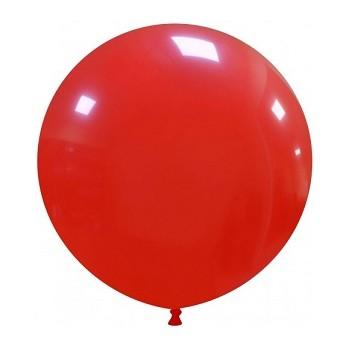 Palloncino in Lattice Rotondo 48 cm. Rosso