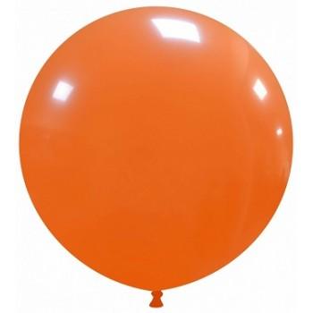 Palloncino in Lattice Rotondo 80 cm. Arancione - Round