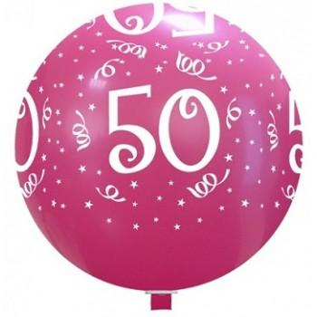 Palloncino in Lattice Rotondo 80 cm. Stampa 50° Compleanno Assortiti