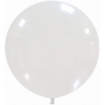 Palloncino in Lattice Rotondo 80 cm. Trasparente - Round