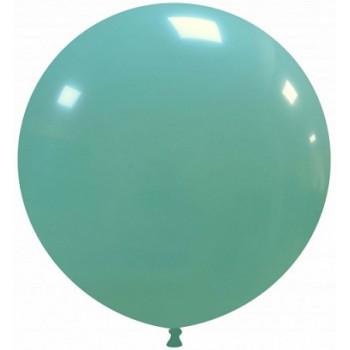 Palloncino in Lattice Rotondo 80 cm. Verde Tiffany - Round