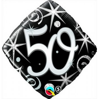 Palloncino Mylar 45 cm. 50° Elegant Sparkle Swirl