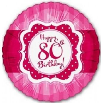 Palloncino Mylar 45 cm. 80° Perfect Pink Happy Birthday