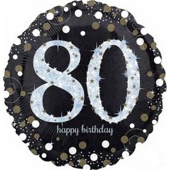 Palloncino Mylar 45 cm. 80° Sparkling Birthday
