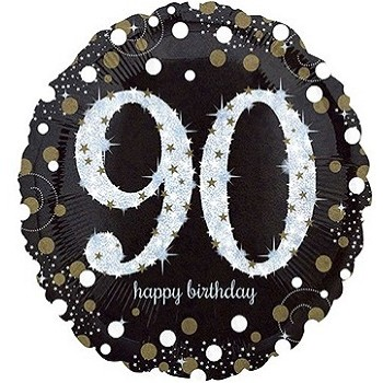 Palloncino Mylar 45 cm. 90° Sparkling Birthday