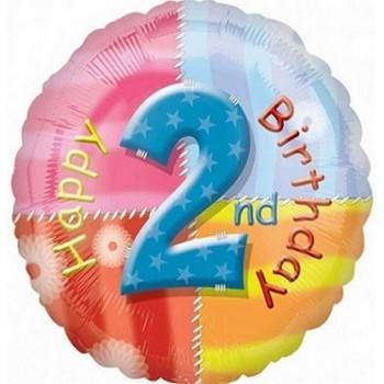 Palloncino Mylar 45 cm. Age 2° Happy Birthday
