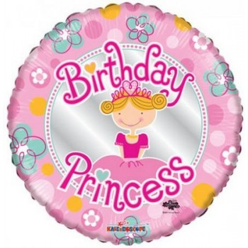 Palloncino Mylar 45 cm. Birthday Princess