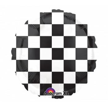 Palloncino Mylar 45 cm. Cars Checkerboard Scacchi