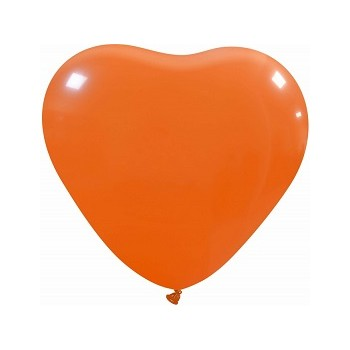 Palloncino in Lattice Cuore 25 cm. Arancio