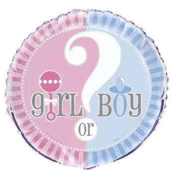 Palloncino Mylar 45 cm. Gender - Reveal Pink & Blue