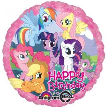 Palloncino Mylar 45 cm. Happy Birthday My Little Pony