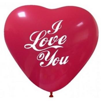 Palloncino in Lattice Cuore 25 cm. Stampa I Love You