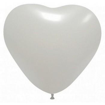 Palloncino in Lattice Cuore 43 cm. Bianco