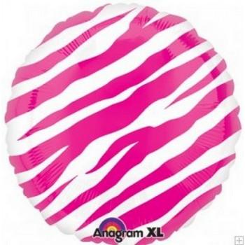 Palloncino Mylar 45 cm. Pink Zebra Stripes