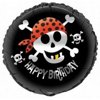 Palloncino Mylar 45 cm. Pirate Fun Birthday