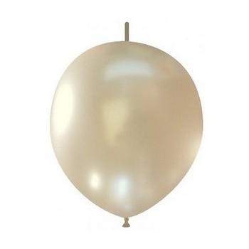 Palloncino in Lattice Link 29 cm. Bianco Metallizzato