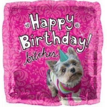 Palloncino Mylar 45 cm. Q - Happy Birthday Dog