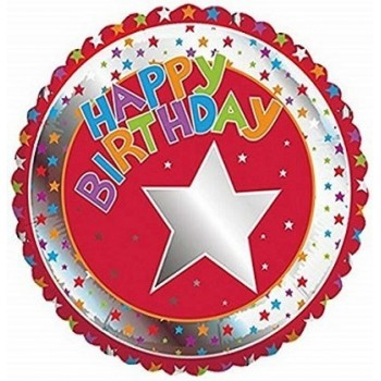 Palloncino Mylar 45 cm. R - Children's Milestone Happy Birthday