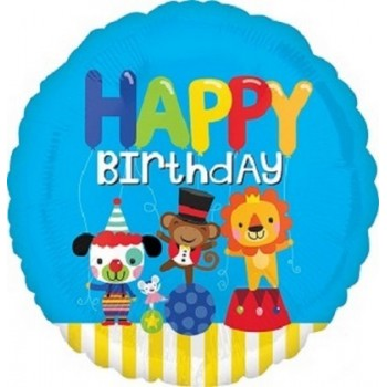 Palloncino Mylar 45 cm. R - Happy Birthday Circus Fun