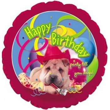 Palloncino Mylar 45 cm. R - Happy Birthday Doggy