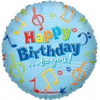 Palloncino Mylar 45 cm. R - Happy Birthday To You