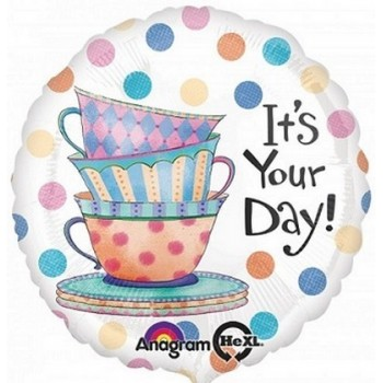 Palloncino Mylar 45 cm. R - It's Your Day Teacups