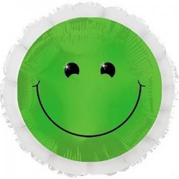 Palloncino Mylar 45 cm. Smiley Neon Green