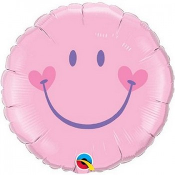 Palloncino Mylar 45 cm. Sweet Smile Face Rosa