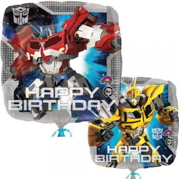 Palloncino Mylar 45 cm. Transformers Animated Birthday
