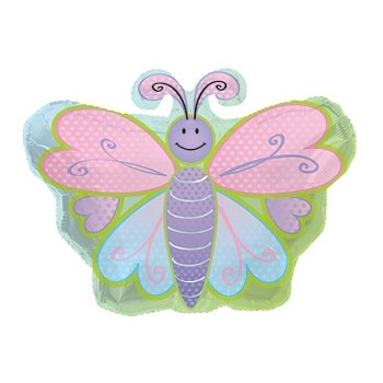 Palloncino Mylar 50 cm. Butterfly With Polka Dot