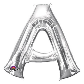 Palloncino Mylar Lettera Maxi A - Anagram - 86 cm. Argento