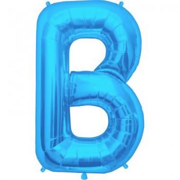 Palloncino Mylar Lettera Maxi B - 86 cm. Blu