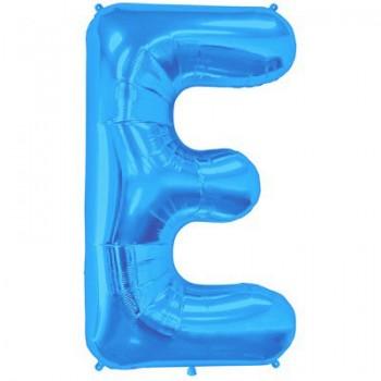 Palloncino Mylar Lettera Maxi E - 86 cm. Blu