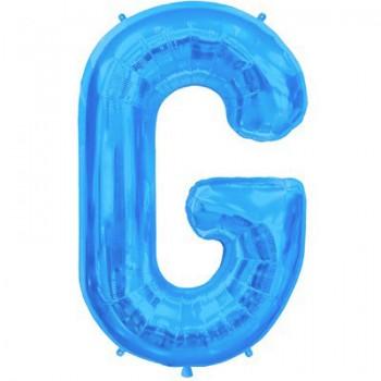 Palloncino Mylar Lettera Maxi G - 86 cm. Blu