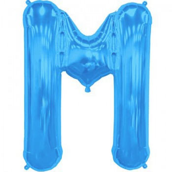 Palloncino Mylar Lettera Maxi M - 86 cm. Blu