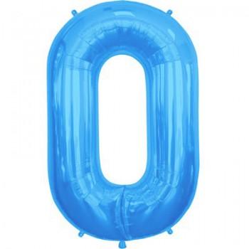 Palloncino Mylar Lettera Maxi O - 86 cm. Blu