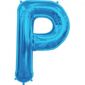 Palloncino Mylar Lettera Maxi P - 86 cm. Blu