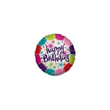 Palloncino Mylar Micro 10 cm. Happy Birthday Fresh