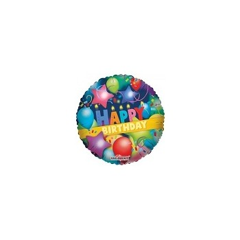 Palloncino Mylar Micro 10 cm. Happy Birthday Part
