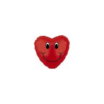 Palloncino Mylar Micro 10 cm. Smiley Face Heart