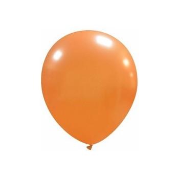 Palloncino in Lattice Rotondo 12,5 cm. Arancione Metallizzato