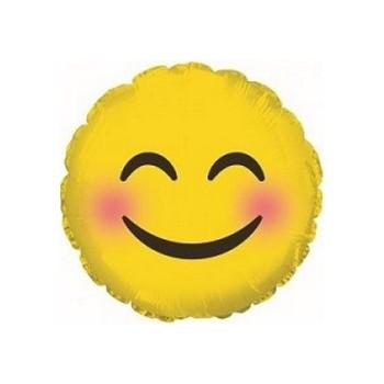 Palloncino Mylar Mini Shape 23 cm. Emoticon Blushing Cheeks