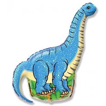 Palloncino Mylar Mini Shape 35 cm. Only Blue Diplodocus