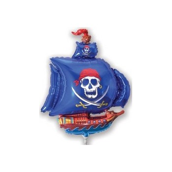 Palloncino Mylar Mini Shape 35 cm. Only Blue Pirate Ship