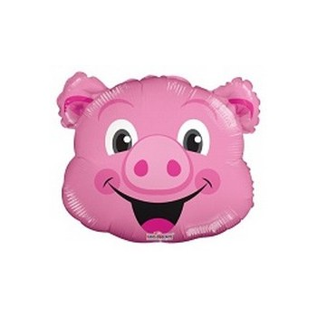 Palloncino Mylar Mini Shape 35 cm. Pig Head